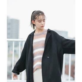 【リバー仕立て】ロングテーラードコート (ブラック(01))