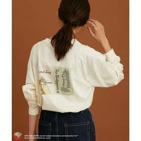【トム&ジェリー×DISCUS×ViS】トリプルコラボロングTシャツ (ホワイト系(11))