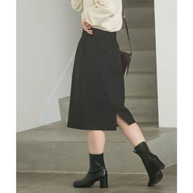 【HOT BEAUTY STRETCH】暖かく動きやすいタイトスカート (ブラック)