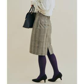 【HOT BEAUTY STRETCH】暖かく動きやすいタイトスカート (ライトグレー)
