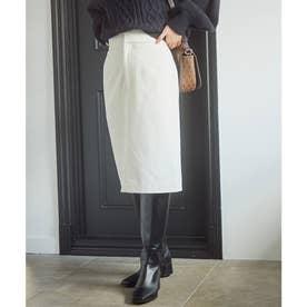 【HOT BEAUTY STRETCH】暖かく動きやすいタイトスカート (オフホワイト)