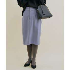 【HOT BEAUTY STRETCH】暖かく動きやすいタイトスカート (サックス)