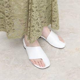 足袋デザインミュールサンダル (ホワイト)