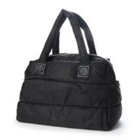 《Lサイズ》マザーズバッグ ナイロン トートバッグ A4 2wayダウンショルダーバッグ (ブラック)