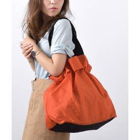 エコバッグ お買い物バッグ 巾着バッグ ナイロントートバッグ レジバッグ アウトドア バックカバー (ORANGE)