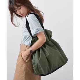 エコバッグ お買い物バッグ 巾着バッグ ナイロントートバッグ レジバッグ アウトドア バックカバー (GREEN)
