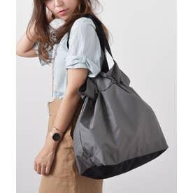 エコバッグ お買い物バッグ 巾着バッグ ナイロントートバッグ レジバッグ アウトドア バックカバー (GRAY)