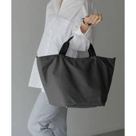 本革×ナイロントートバッグ 本革ハンドル A4 斜めがけ 2way ショルダーバッグ 旅行バッグ 出張バッグ マザーバッグ (CHARCOAL)