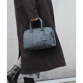 ボストンバッグ レディースバッグ 通勤バッグ リザードの型押し 2wayバッグ ミニバッグ 大容量 ショルダーバッグ (NAVY)