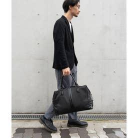 ボストンバッグ メンズ A4 革バッグ レザーバッグ ユニセックス 旅行バッグ (BLACK)
