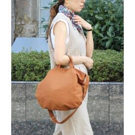 キャンバストートバッグ 斜めがけバッグ マザーズバッグ トラベルバッグ (CAMEL)