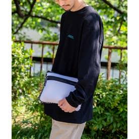 ダイバー素材  サコッシュ レディース メンズ ユニセックス ネオプレン ミニショルダーバッグ ウエットスーツ素材 ロープハンドル (WHITE)