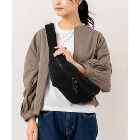 ダイバー素材 ボディバッグ レディース メンズ ユニセックス ミニボディバッグ ウエットスーツ素材 (BLACK)
