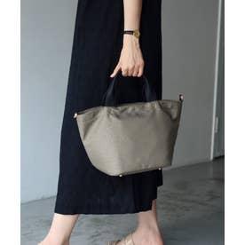 本革×ナイロントートバッグ 弁当 本革ハンドル ミニバッグ 斜めがけ 2wayショルダーバッグ 通勤バッグ (LEOGBE)