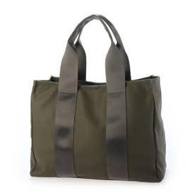 トートバッグ A4 レディースショルダーバッグ 通勤 通学 お仕事バッグ お弁当バッグ カバー付き マザーズバッグ (KHAKI)