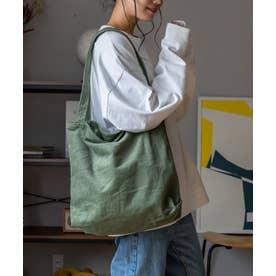 コーデュロイバッグ レディーストートバッグ 肩掛け 斜めがけ スエード 通勤 通学 サブバッグ ワンマイルバッグ (GREEN)