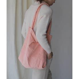 コーデュロイバッグ レディーストートバッグ 肩掛け 斜めがけ スエード 通勤 通学 サブバッグ ワンマイルバッグ (PINK)