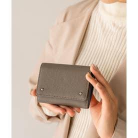 財布 本革 二つ折り/三つ折り ミニウォレット新春 ミニバッグ用 コンパクトレザー財布 (ASHGRAY)