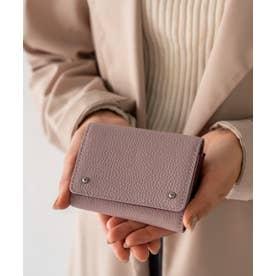 財布 本革 二つ折り/三つ折り ミニウォレット新春 ミニバッグ用 コンパクトレザー財布 (LAVENDER)