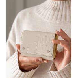 財布 本革 二つ折り/三つ折り ミニウォレット新春 ミニバッグ用 コンパクトレザー財布 (OFFWHITE)