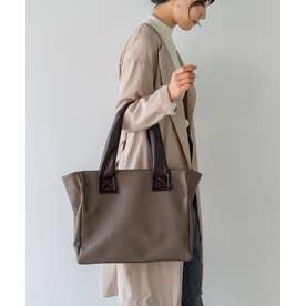 トートバッグ A4 お仕事バッグ 肩掛け 通勤通学バッグ (MOCHA)