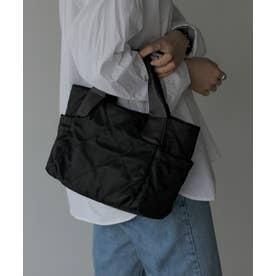 キルティングトートバッグ ナイロンバッグ B5 通勤バッグ 2way お仕事バッグ ショルダーバッグ (BLACK)
