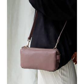 【お財布ポシェット】 本牛革 レザーお財布ポシェット レディースバッグ (OLDPLUM)