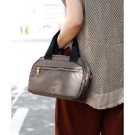 ナイロンショルダーバッグ 6ポケット収納 斜めがけ ナイロンミニトートバッグ レディースバック 旅行バッグ サブバッグ (MOCHA)