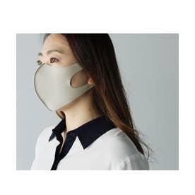 繰り返し洗って使える接触冷感マスク 日本製 2枚セット 3D 立体 【返品不可商品】 ユニセックス 手洗い (BEGY)