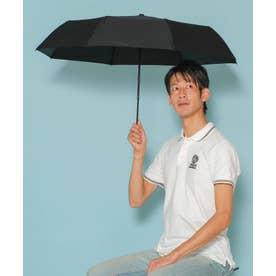 《晴雨兼用日傘》折りたたみ 完全遮光 55cm 遮光率100%・UV遮蔽率99.9%以上 軽い310g 梅雨 紫外線対策 マスク日焼け対策 (BLACK)