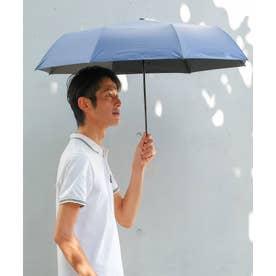《晴雨兼用日傘》折りたたみ 完全遮光 55cm 遮光率100%・UV遮蔽率99.9%以上 軽い310g 梅雨 紫外線対策 マスク日焼け対策 (BLUE)