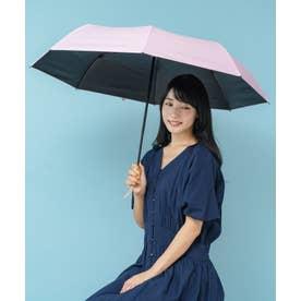 《晴雨兼用日傘》折りたたみ 完全遮光 55cm 遮光率100%・UV遮蔽率99.9%以上 軽い310g 梅雨 紫外線対策 マスク日焼け対策 (PINK)