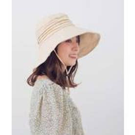 つば広帽子 マスク焼け防止 UV対策 レディースつば広ハット キャペリンハット コットンハット 紫外線対策 アウトドア (BEIGE)