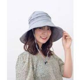 つば広帽子 マスク焼け防止 UV対策 レディースつば広ハット キャペリンハット コットンハット 紫外線対策 アウトドア (LIGHTGRAY)