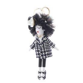 バッグチャーム ドール バッグチャーム 人形 キーホルダー きらきら バッグのアクセサリー (B)