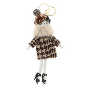 バッグチャーム ドール バッグチャーム 人形 キーホルダー きらきら バッグのアクセサリー (G)