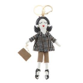 バッグチャーム ドール バッグチャーム 人形 キーホルダー きらきら バッグのアクセサリー (I)