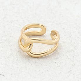メビウスリング レディース指輪 丸いデザイン ジュエリー アクセサリー プレゼント ねじれ アンティーク ヴィンテージ風 《ゴールド/シルバー》 (GOLD