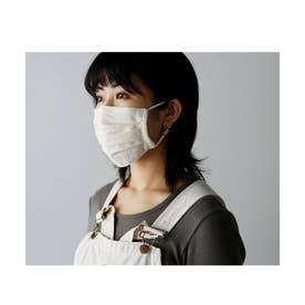 【返品不可商品】繰り返し使えるマスク 日本製  レディース メンズ プリーツ 3D 立体 フィルターポケット付き ガーゼ  洗えるマスク AIVORY