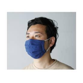 【返品不可商品】繰り返し使えるマスク 日本製  レディース メンズ プリーツ 3D 立体 フィルターポケット付き ガーゼ  洗えるマスク ANAVY
