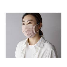 【返品不可商品】繰り返し使えるマスク 日本製  レディース メンズ プリーツ 3D 立体 フィルターポケット付き ガーゼ  洗えるマスク APINK