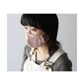 【返品不可商品】繰り返し使えるマスク 日本製  レディース メンズ プリーツ 3D 立体 フィルターポケット付き ガーゼ  洗えるマスク BPINK