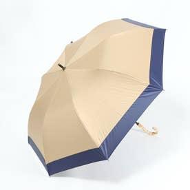 日傘  ショートワイド傘 完全遮光 晴雨兼用 UV遮蔽率100%・遮光率100% ショート傘 完全遮蔽 UVカット 曲がり竹ハンドル 紫外線対策 (CBEI