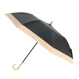 日傘  ショートワイド傘 完全遮光 晴雨兼用 UV遮蔽率100%・遮光率100% ショート傘 完全遮蔽 UVカット 曲がり竹ハンドル 紫外線対策 (CBLA