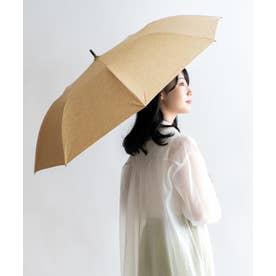 晴雨兼用ショートワイド傘(ダンガリープリント) (BEIGE)