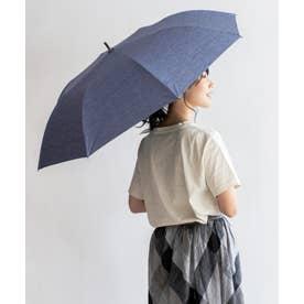 晴雨兼用ショートワイド傘(ダンガリープリント) (NAVY)