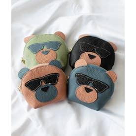キーリング付き本革コインケース(Bear) (BLUE)