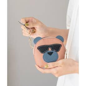 キーリング付き本革コインケース(Bear) (PINK)