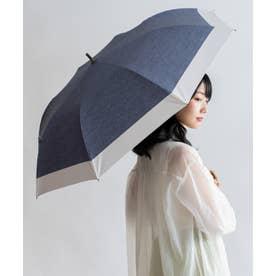 晴雨兼用ショートワイド傘(コンビダンガリープリント) (CNAVY)