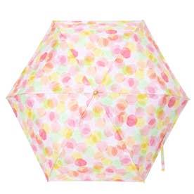 完全遮光 日傘 UV遮蔽率100%・遮光率100% 晴雨兼用 折りたたみ花柄傘 プレゼント (DPINK)